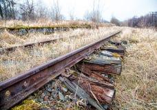 Ferrocarril abandonado viejo Foto de archivo libre de regalías