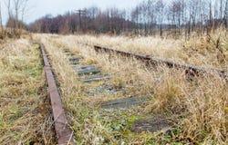 Ferrocarril abandonado viejo Fotografía de archivo