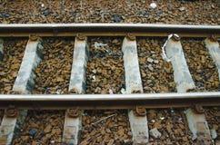 Ferrocarril, acero Fotografía de archivo libre de regalías