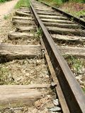 Ferrocarril aherrumbrado viejo Imágenes de archivo libres de regalías