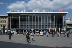 Ferrocarril Alemania de Colonia Foto de archivo libre de regalías