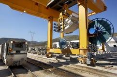 Ferrocarril bajo construcción Fotografía de archivo