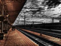 Ferrocarril británico Fotografía de archivo