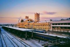 Ferrocarril británico Foto de archivo libre de regalías