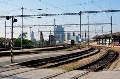 Ferrocarril, Brno, República Checa, Europa Imágenes de archivo libres de regalías