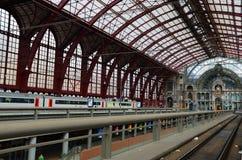 Ferrocarril central, Antwerpen imagen de archivo libre de regalías