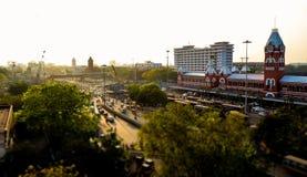 Ferrocarril central de Chennai fotografía de archivo