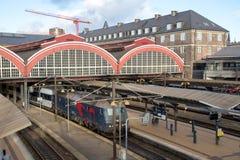 Ferrocarril central de Copenhague Imagenes de archivo