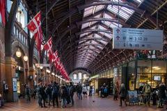 Ferrocarril central de Copenhague Fotografía de archivo