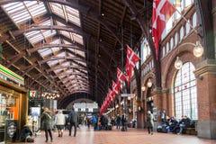 Ferrocarril central de Copenhague Fotografía de archivo libre de regalías