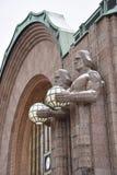 Ferrocarril central de Helsinki imagen de archivo
