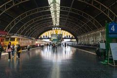 Ferrocarril central de Hua Lamphong en Bangkok Imagen de archivo libre de regalías