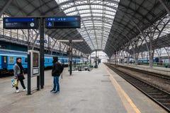 Ferrocarril central de Praga Imagen de archivo libre de regalías
