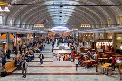 Ferrocarril central en Estocolmo, Suecia Imagen de archivo libre de regalías