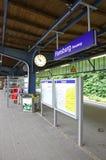 Ferrocarril central en Flensburg, Alemania Imagen de archivo libre de regalías