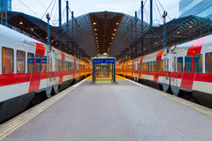 Ferrocarril central en Helsinki, Finlandia Fotos de archivo