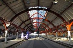 Ferrocarril central en Malmö, Suecia Foto de archivo libre de regalías