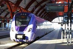 Ferrocarril central en Malmö, Suecia Fotografía de archivo libre de regalías