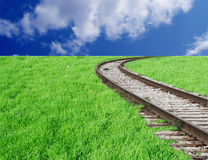 Ferrocarril Curvy Imagenes de archivo