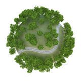 Ferrocarril 3D del planeta ilustración del vector