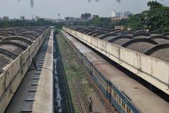 Ferrocarril Dacca Bangladesh de Kamalapur Imagenes de archivo