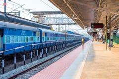 Ferrocarril de Alappuzha - ferrocarriles indios Fotos de archivo libres de regalías