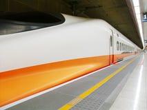 Ferrocarril de alta velocidad foto de archivo libre de regalías