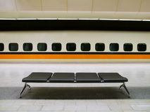 Ferrocarril de alta velocidad Foto de archivo