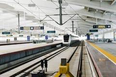 Ferrocarril de alta velocidad en China imagen de archivo libre de regalías