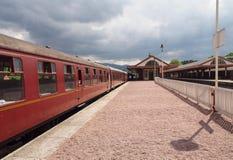 Ferrocarril de Aviemore, Escocia Imagen de archivo libre de regalías