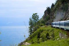 Ferrocarril de Baikal Imagen de archivo libre de regalías