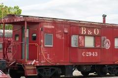 Ferrocarril de Baltimore Ohio del Caboose del número C-2943 de B O Imagen de archivo