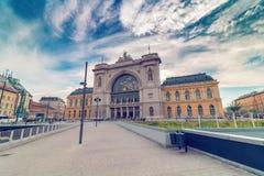 Ferrocarril de Budapest Keleti Imágenes de archivo libres de regalías
