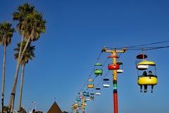 Ferrocarril de cable en Santa Cruz Boardwalk California imagen de archivo