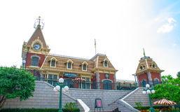 Ferrocarril de calle principal de Hong Kong Disneyland, Hong Kong Disneyland Imágenes de archivo libres de regalías
