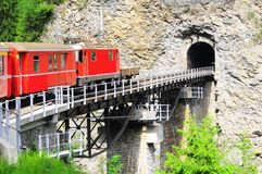 Ferrocarril de Chur - de Arosa. Fotografía de archivo libre de regalías