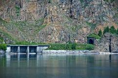 Ferrocarril de Circum-Baikal imágenes de archivo libres de regalías