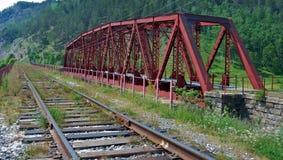 Ferrocarril de Circum-Baikal fotografía de archivo