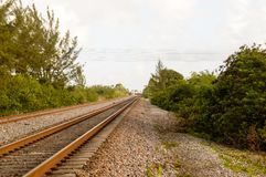 Ferrocarril de Dania Florida Fotos de archivo libres de regalías