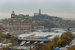 Ferrocarril de Edimburgo Waverley Fotografía de archivo