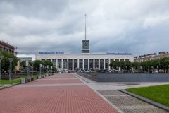 Ferrocarril de Finlandia Imagen de archivo libre de regalías