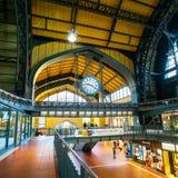 Ferrocarril de Hamburgo Hauptbahnhof fotos de archivo