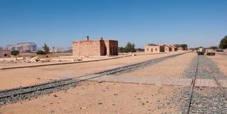Ferrocarril de Hejaz cerca del al-Ula Imagen de archivo libre de regalías