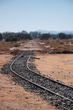 Ferrocarril de Hejaz cerca del al-Ula Foto de archivo libre de regalías