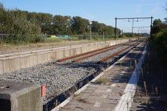 Ferrocarril de Hoekse Lijn, los Países Bajos foto de archivo