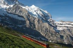 Ferrocarril de Jungfrau, Suiza Foto de archivo