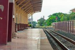 Ferrocarril de Korat Imagen de archivo libre de regalías