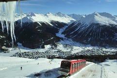 Ferrocarril de la alta montaña Imágenes de archivo libres de regalías