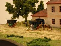 Ferrocarril de la diorama Budweiss - de Linz foto de archivo