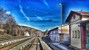 Ferrocarril de la estación de tren imagen de archivo